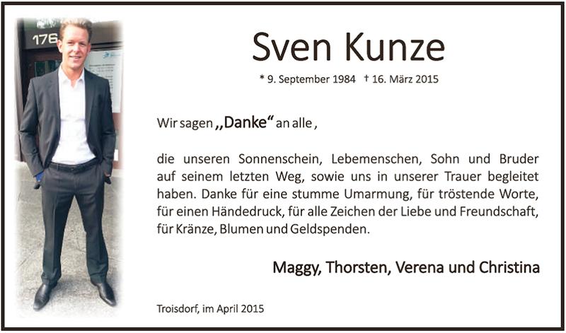 Sven Kunze Trauer